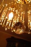 härlig ljuskronakristall Arkivfoto
