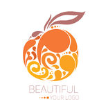 Härlig logomall Royaltyfria Foton