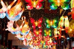 Härlig lyktafestival i Shanghai Royaltyfria Foton