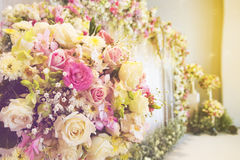 Härlig lyxig bröllopbakgrund Royaltyfria Foton