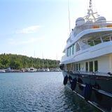Härlig lyxig yacht Fotografering för Bildbyråer