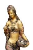 Härlig mässingsantik staty av förföriskt PA för kvinna offentligt Fotografering för Bildbyråer