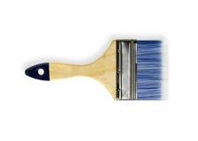 Härlig målarpensel med trähandtaget royaltyfri fotografi