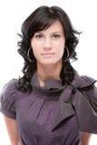 härlig mörk haired stående Royaltyfri Fotografi