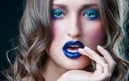 Härlig makeup Arkivbilder