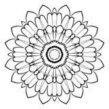 Härlig mandala för albumet Symmetrisk prydnad i ciren Royaltyfri Fotografi