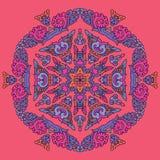 Härlig Mandala Rund dekorativ modell Royaltyfri Fotografi