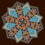Härlig Mandala Rund dekorativ modell Royaltyfri Bild