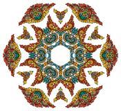 Härlig Mandala Rund dekorativ modell stock illustrationer
