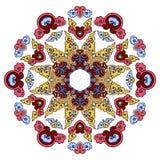 Härlig Mandala Rund dekorativ modell vektor illustrationer