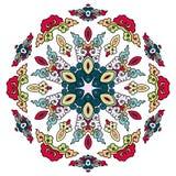 Härlig Mandala Rund dekorativ modell Fotografering för Bildbyråer