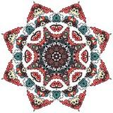 Härlig Mandala Rund dekorativ modell Arkivbilder