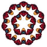 Härlig Mandala Rund dekorativ modell Arkivbild