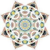 Härlig Mandala Rund dekorativ modell Arkivfoto