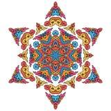 Härlig Mandala Rund dekorativ modell royaltyfri illustrationer