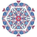 Härlig Mandala Rund dekorativ modell Arkivfoton