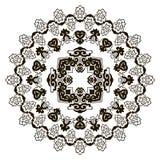 Härlig Mandala svart white Royaltyfri Fotografi