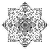 Härlig Mandala svart white Royaltyfria Foton