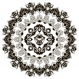 Härlig Mandala svart white Arkivfoton