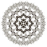 Härlig Mandala svart white Arkivbilder