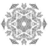 Härlig Mandala svart white Royaltyfri Bild