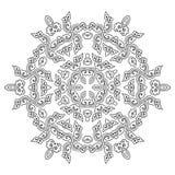 Härlig Mandala svart white Arkivfoto