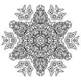 Härlig Mandala svart white royaltyfri illustrationer