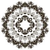 Härlig Mandala svart white Royaltyfria Bilder