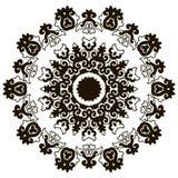 Härlig Mandala svart white Arkivbild