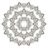 Härlig Mandala svart white vektor illustrationer