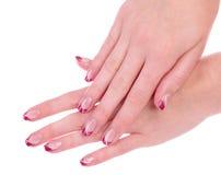 härlig manicure Royaltyfri Fotografi