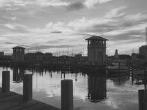 Härlig marina i Gulfport Mississippi Arkivfoton
