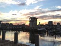 Härlig marina i Gulfport Mississippi Arkivfoto