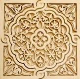 Härlig marockansk arkitektur på en byggnad Royaltyfri Fotografi