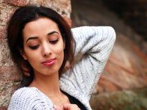 Härlig marockansk flicka i Padua royaltyfria foton