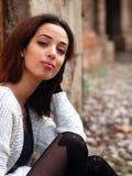 Härlig marockansk flicka i Padua Fotografering för Bildbyråer