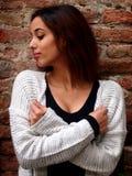 Härlig marockansk flicka i Padua Royaltyfri Foto