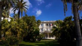 Härlig Massena villa som omges av trädgårdar, konstmuseet och historia royaltyfri fotografi