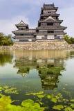 Härlig medeltida slott Matsumoto Arkivbilder