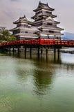Härlig medeltida slott Matsumoto Royaltyfria Foton