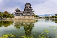 Härlig medeltida slott Matsumoto Royaltyfri Foto
