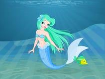 härlig mermaid Arkivbild