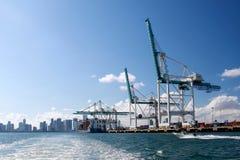 härlig miami port Royaltyfria Bilder