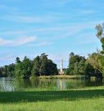 Härlig minaret för historisk gränsmärke, historiskt område Lednicko Valt Royaltyfri Bild