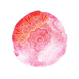 Härlig mjuk vattenfärgbakgrund med den blom- prydnaden elegant illustrationvektor Royaltyfri Foto