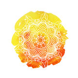 Härlig mjuk vattenfärgbakgrund med den blom- prydnaden elegant illustrationvektor Arkivbild