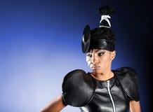 Härlig modeafrikankvinna Royaltyfri Bild