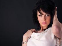 härlig modeflicka Fotografering för Bildbyråer