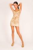 härlig modeflickadräkt Royaltyfria Bilder