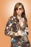 härlig modekvinna Arkivbilder
